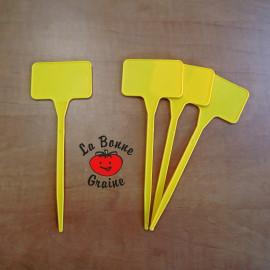 Etiquettes à planter (jaunes) : lot de 5